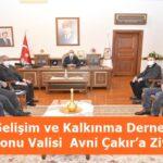 Tosya Gelişim ve Kalkınma Derneği'nden Kastamonu Valisi  Avni Çakır'a Ziyaret